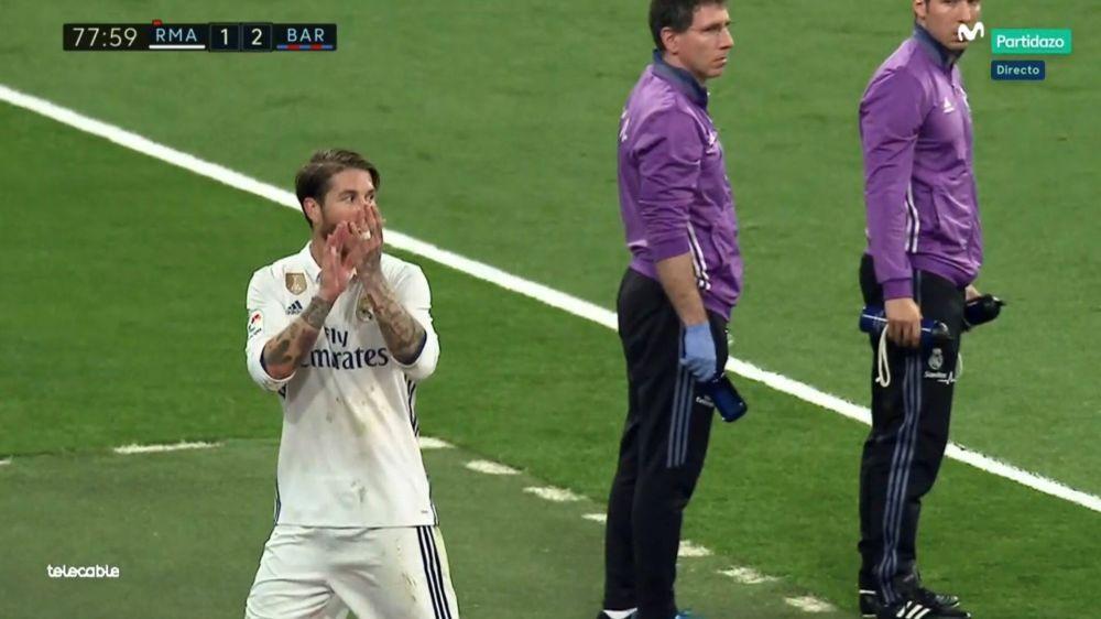 El árbitro no recogió en el acta los aplausos de Sergio Ramos