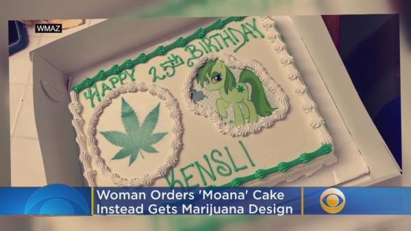 Bakery Mixup Leaves Woman With Marijuana Themed Birthday Cake Instead Of Moana