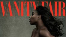 Pregnant Serena Williams poses nude on the cover of Vanity Fair