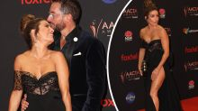 Loved-up Ada Nicodemou shows some leg on AACTAs red carpet
