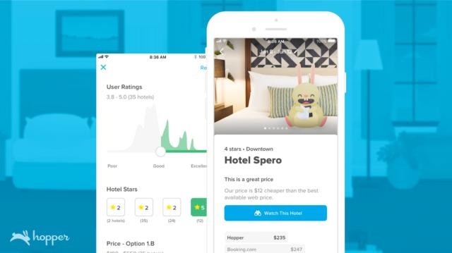Hopper app now predicts hotel prices around the world