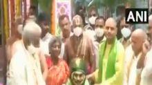 Brahmotsavam celebrations: Jagan Reddy offers silk cloth to Lord Venkateswara at Tirumala