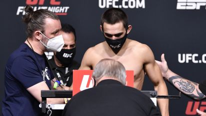 Benoit hospitalized after failing to make weight