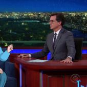 Stephen Colbert Gets to Know Cartoon Hillary Clinton on 'The Late Show'