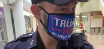 Miami cop went to vote early in pro-Trump face mask