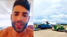 """Gusttavo Lima mostra Boeing com oxigênio para Manaus: """"Vai salvar muitas vidas"""""""