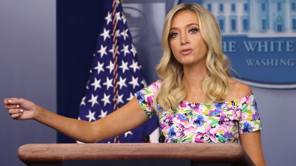 White House press secretary Kayleigh McEnany says she