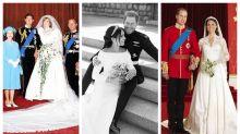 Harry y Meghan: comparamos las fotos oficiales de su boda con las de los príncipes Guillermo y Carlos