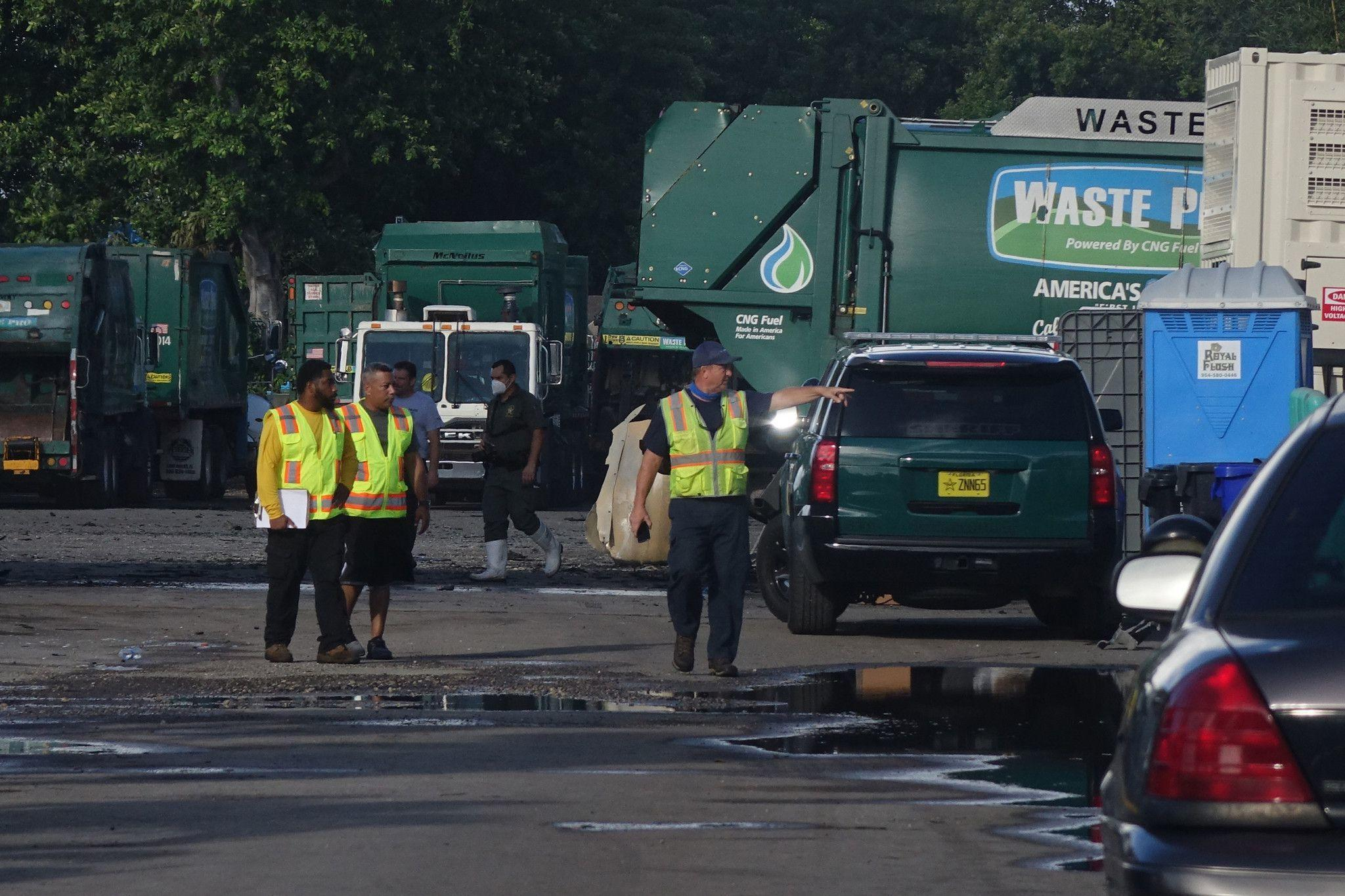 10 garbage trucks burned overnight in Pompano Beach