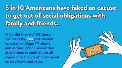Sling TV Survey Finds Almost Half of Americans Have Made Fake Excuses to Get Out of Plans