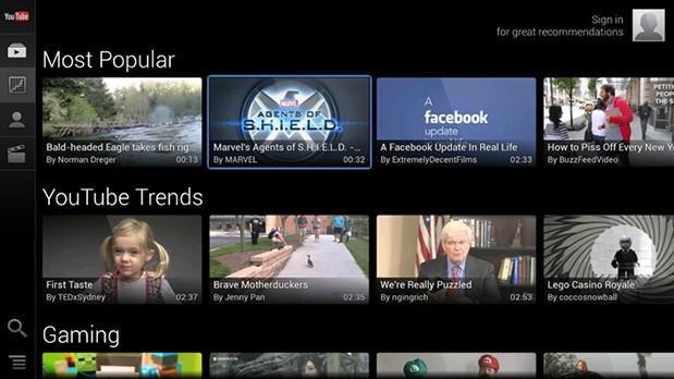 YouTube for Google TV updated with streamlined UI, support for paid subscriptions