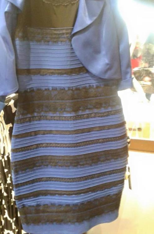 Partially color blind test dress