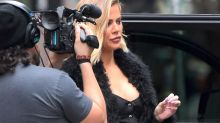 Pregnant Khloe Kardashian Displays a Hint of a Baby Bump in NYC: Pic!
