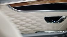 Bentley teases new Flying Spur's 3D diamond leather upholstery
