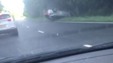 Driver flips car after losing consciousness