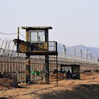 North Korean 'pole vaults to freedom' across border