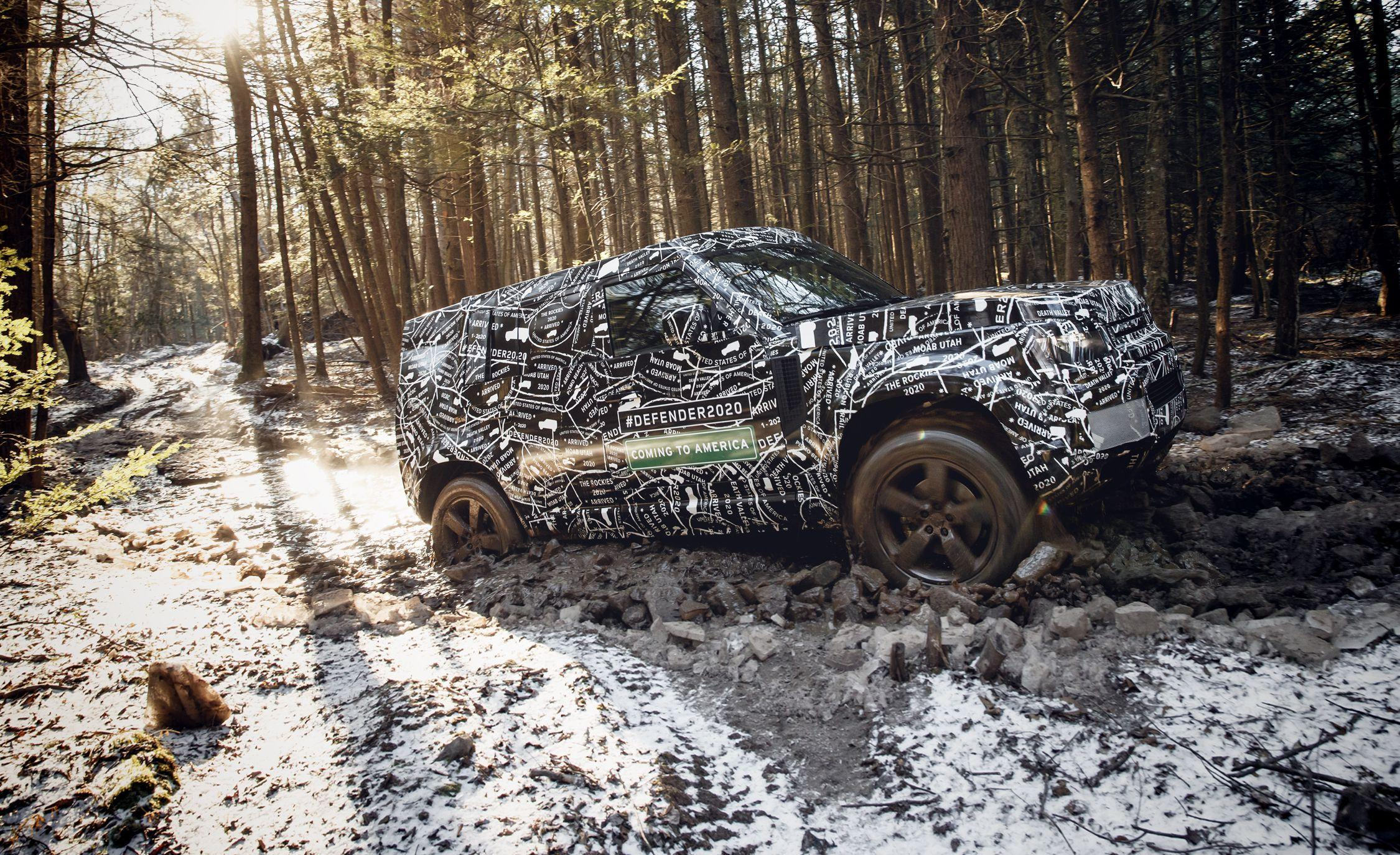 """<p>At the beginning 0f 2016, after 68 years of production, the final <a href=""""https://www.caranddriver.com/land-rover/defender"""" rel=""""nofollow noopener"""" target=""""_blank"""" data-ylk=""""slk:Land Rover Defender"""" class=""""link rapid-noclick-resp"""">Land Rover Defender</a> (née Series I, II, and III) rolled off the assembly line in Solihull, England. But well before that happened, we knew that Land Rover was working on a successor to the iconic model. Now, following multiple concepts, years of speculation, and a bunch of spy photos, Land Rover has finally, officially announced that <a href=""""https://www.caranddriver.com/photos/g25009784/2020-land-rover-defender-suv-future-spied/"""" rel=""""nofollow noopener"""" target=""""_blank"""" data-ylk=""""slk:the all-new Defender"""" class=""""link rapid-noclick-resp"""">the all-new Defender</a> will be revealed at some point in 2019.</p>"""