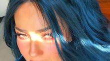 Thalía vuelve a cambiar de look: ahora se pintó el pelo de azul; mírala
