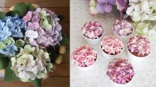 People are obsessed with hydrangea cakes right now