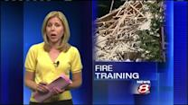 Yarmouth home damaged by gas explosion used for practice burn