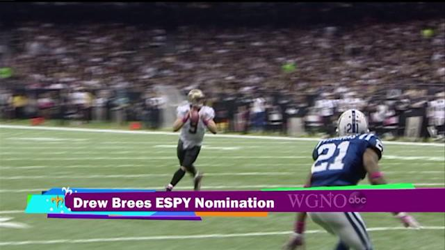 Drew Brees nominated for an ESPY Award