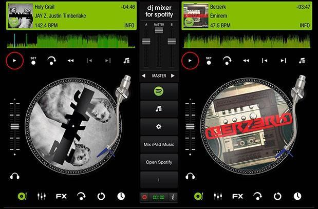 iPad app lets you create DJ mixes from Spotify playlists (update: pulled from App Store)