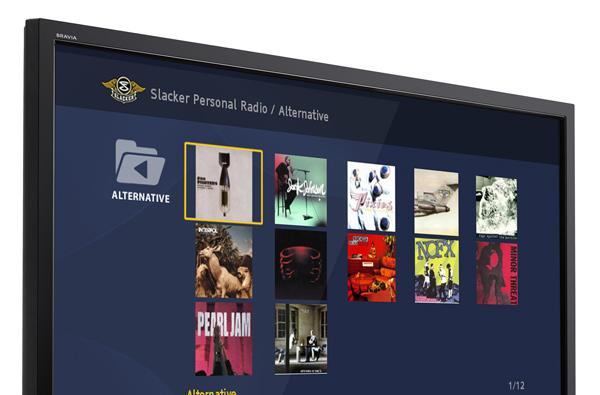 Slacker radio added to Sony BRAVIA Internet Video Link
