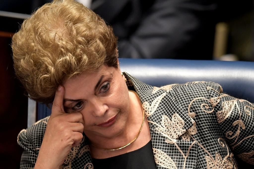 """Giant Brazil was a leader in the regional """"pink tide"""" movement, providing two of its most emblematic presidents: Rousseff and Luiz Inacio Lula da Silva (AFP Photo/Evaristo Sa)"""