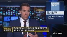 Goldman Sachs shares fall on 40 percent bond trading plunge despite earnings beat