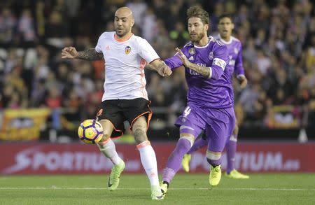 Football Soccer - Valencia v Real Madrid - Spanish La Liga Santander