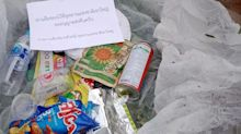 Thai park posts discarded rubbish back to litterbugs