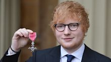 Ed Sheeran breached royal protocol when he did THIS while being awarded his MBE