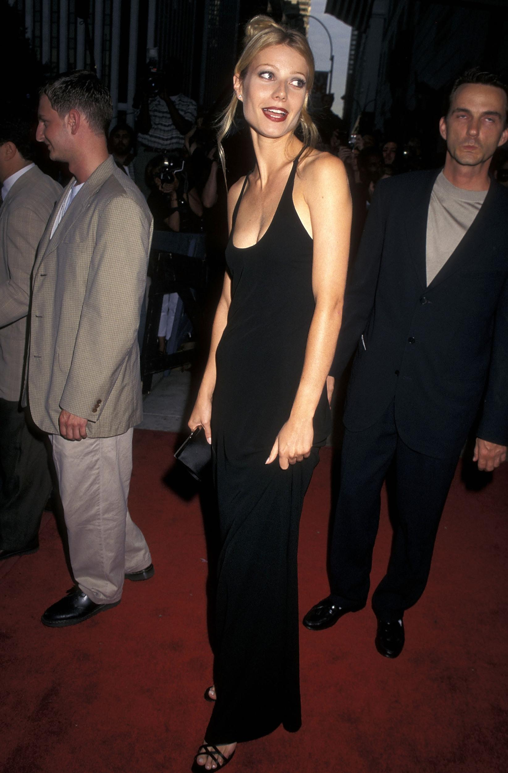 Actress Gwyneth Paltrow attends the 'Emma' New York City Premiere on July 22, 1996 at the Paris Theatre in New York City. (Photo by Ron Galella, Ltd./WireImage)