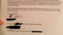 This man's hilarious gym breakup letter went totally viral