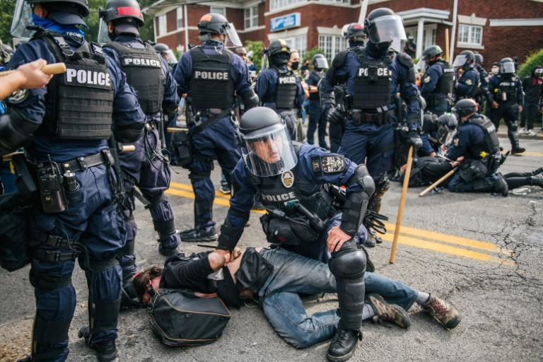 Police said there had been 127 arrests in Louisville during a night of protests in the Kentucky city