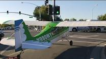 Small plane makes emergency landing on SJ road