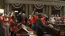 Raw Video: Chaos Breaks Out In State Assembly After budget Vote