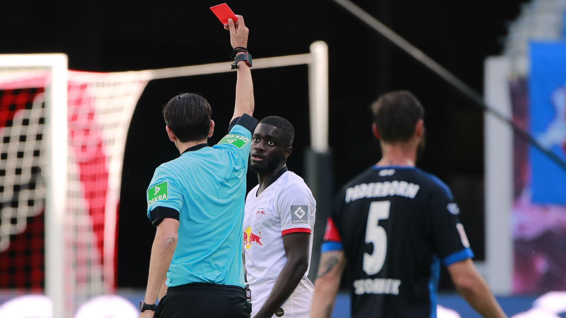 RB Leipzig 1-1 Paderborn: Upamecano red proves costly as ...