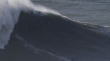 Surfer Justine Dupont smashes world record and conquers 70-foot wave