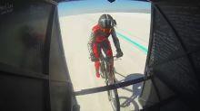 Denise Mueller-Korenek breaks world record for fastest bicycle ride