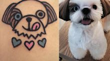 This South Korean tattoo artist will turn your adorable pets into equally adorable tattoos