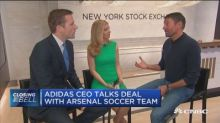 Adidas CEO on Arsenal soccer deal and how to pronounce Ad...