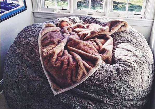 This Lovesac ~pillow chair~ is as big