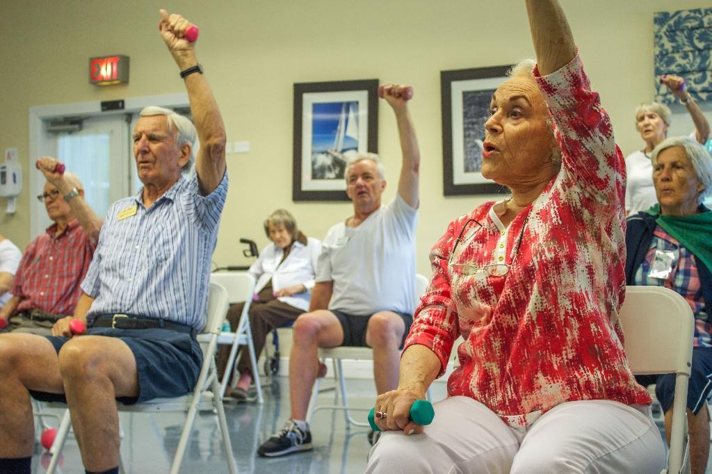 Regular exercise and a Mediterranean diet are known to help foster healthy aging (AFP Photo/Federica Narancio)