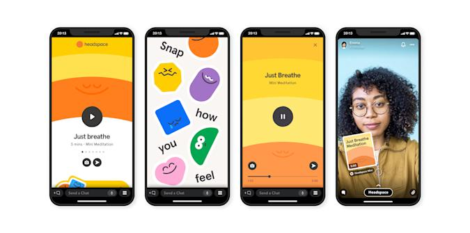 Meditation app Headspace has a 'mini' version for Snapchat.