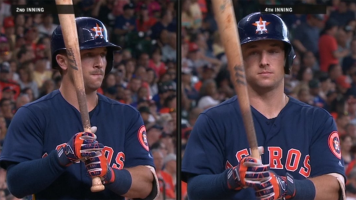 Astros' Bregman shaves 'stache mid-game