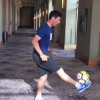 Rory McIlroy risks another soccer injury to show off some pretty slick juggling skills
