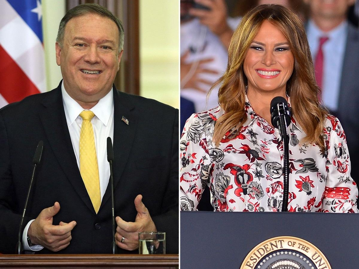 Secretary of State Mike Pompeo and first lady Melania Trump are scheduled to appear during the second night of the 2020 RNC.