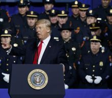 Trump, vowing gang crackdown, urges cops 'don't be too nice'