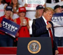 Trump news – live: Poll shows president losing in series of swing states, as rambling rally speech disturbed by flies and hecklers